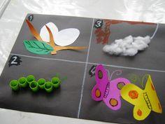 Kelebeğin oluşumu sanat etkinliği