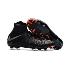 Zapatillas de fútbol sala de Nike Hypervenom Phantom III DF FG Negro  Blateado Naranja e98fdd7e00a71