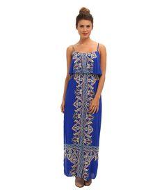 Brigitte Bailey - Ruffle Top Maxi Dress (Royal)