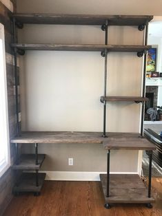 Home Office Design, Home Office Decor, Diy Home Decor, Office Ideas, Office Nook, Office Designs, Industrial Interior Design, Industrial House, Industrial Pipe Desk