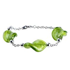Pugster Purple Twist Green Leaf Murano Glass Bracelet Pugster. $11.99. Stunning Colorful Murano Glass Style Designer Fashion bracelet. Money-back Satisfaction Guarantee. Free Jewerly Box.. Great to give away as presents, gifts to friends or family members.. Handmade in China in the VenetianáMuranoáStyle