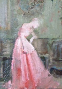 "Saatchi Art Artist: Fanny Nushka Moreaux; oil 2014 Painting ""Indoor Pink, 2014"""