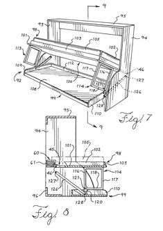 Patent US7921487 - Tilting furniture system and infinitely variable lift tensioning mechanism ... - Google Patents #murphybeddesk Full Size Murphy Bed, Build A Murphy Bed, Murphy Bed Desk, Best Murphy Bed, Murphy Bed Plans, Murphy Bed Mechanism, Murphy Bed Hardware, Tyni House, Home Bar Areas