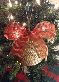 10 PIEZAS. Decora tu Pino de Navidad. Esfera de Yute por Xmasshop