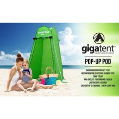 GigaTent Portable Pop Up Changing Room Green-ST002 - The Home Depot Camping Potty, Tent Camping, Tent Set Up, Pop Up Tent, Pop Up Changing Room, Sun Shade Tent, Portable Outdoor Shower, Boy Scout Camping, Rain Shelter