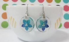 real flower petals and natural leaves orchid blue by candoall