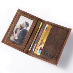 MS 무료 배송 핫 판매 남성 정품 가죽 지갑 비즈니스 캐주얼 신용 카드 ID 홀더 돈 카드 홀더 브라운 K100