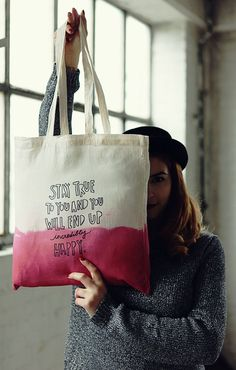 Dark Pink Hand Dip Dye and lettered Cotton Bag Sacs Tote Bags, Diy Tote Bag, Canvas Tote Bags, Reusable Tote Bags, Mk Bags, Duffle Bags, Messenger Bags, Painted Canvas Bags, Plain Canvas
