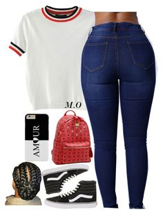 """BTS4"" by renipooh ❤ liked on Polyvore featuring Vans, WithChic and MCM"