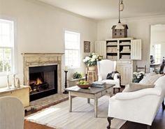 english farm house kitchen | Shabby french for me: ~ Comfortable In Farmhouse White ~