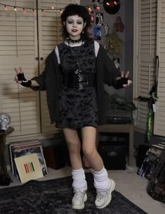 Swaggy Outfits, Dope Outfits, Fashion Outfits, Grunge Fashion, Gothic Fashion, High School Fashion, Alternative Outfits, Aesthetic Clothes, Makeup