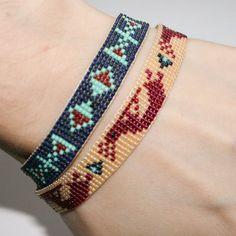 Loom Bracelet Patterns, Bead Loom Bracelets, Loom Patterns, Bracelets For Men, Beading Patterns, Estilo Navajo, Beadwork Designs, Native Beadwork, Loom Beading