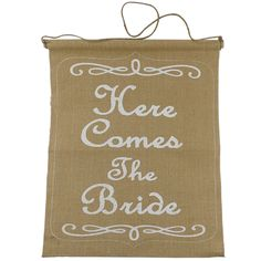 Celebrate It™ Occasions™ Here Comes the Bride Burlap Banner