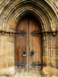 Cathedral doors, Dunblane, Scotland