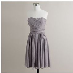 Gray from J. Crew.  Cute but expensive.  Similar dresses are at David's Bridal.