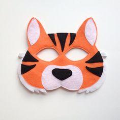 Tiger Halloween Mask from OppositeofFar on Etsy Tiger Halloween, Halloween Masks, Jungle Safari, Safari Animals, Tiger Mask, Felt Mask, Zebras, Mild Soap, Birthday Presents