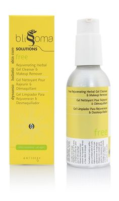 Free Herbal Gel Cleanser, an organic and natural cleanser for all skin types using soapbark, yerba mate, cornflowers, and sunflower oil  $31.99 4oz.