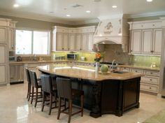 Kitchen, Inspiring French Country Kitchen Designs Kitchen Islands Designs: Elegant Design French Country Kitchen Cabinets