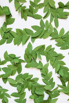 DIY green leaf paper