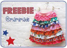 Freebie Download DIY Tutorial Jersey Rueschen Rock