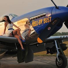 Warbird Pinup Girls is an annual calendar featuring 12 classicly done pin up girls with 12 flight worthy WWII warbirds Ww2 Aircraft, Fighter Aircraft, Military Aircraft, Fighter Jets, Pin Up Girls, Pinup, Air Festival, Airplane Art, P51 Mustang