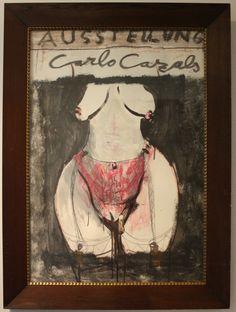 """""""Ausstellung Carlo Cazals"""", 2005, Mit Rahmen, verglast: 85 x 116 cm (70 x 100 cm o.R.) 2800,- EURO. Anfragen an: Werkeverwaltung Carlo Cazals - Britta Kremke Mail: b.kremke@kremke.de Tel. 038722-227-14"""