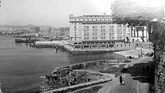 Playa del Parrote y hotel Finisterre. La Coruña