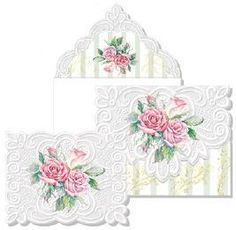 Carol Wilson embossed cards.  My favorite.   French Scroll Mini Portfolio