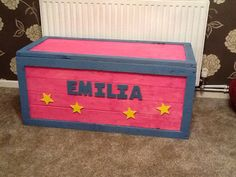 Toy box, cool woodwork