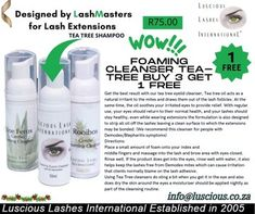 (6) Home / Twitter For Lash, Lash Extensions, Tea Tree, Cleanser, Announcement, Lashes, Shampoo, Personal Care, Twitter