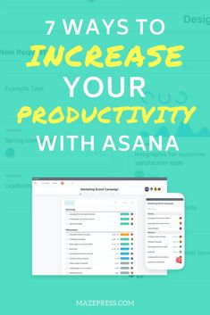 7 Ways to Increase Your Productivity with Asana Want to increase your productivity? Try using Asana! Create business systems to take you to the next level and remain hyper-organized. Asana Project Management, Time Management Tips, Change Management, Content Marketing, Online Marketing, Business Tips, Online Business, Work Productivity, Increase Productivity