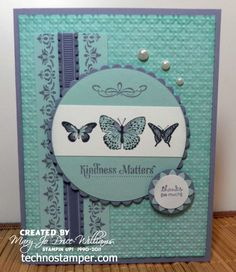 A perfect way to use up my butterfly, border and flourish stamps. Make some card kits in January!