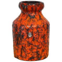 Vintage 1960s Fat Lava Vase by Emons and Söhne, Germany