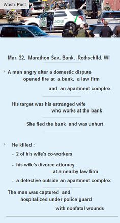 A man in Rothschild, Wisconsin killed 4 people after domestic dispute #Funding #Startup #VC http://arzillion.com/S/LTYh6k