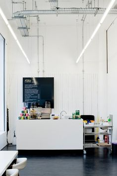 The stark minimalism of All That Is Solid, a café and concept store in Glasgow. | 31 Coffeeshops And Cafés You Wish You Lived In