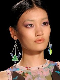 Greenwich Jewelers - Blog, Nicole Miller Spring 2013 collection geometric earrings