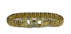 Nolan Miller Gold Tone Mesh Link Bracelet by VintageSparkleyBits