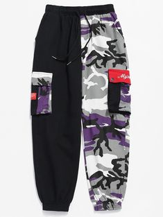 Product Camo Patchwork Multi Pockets Pants available for Zaful WW, get it now ! Cute Lazy Outfits, Cute Swag Outfits, Edgy Outfits, Mode Outfits, Retro Outfits, Girls Fashion Clothes, Teen Fashion Outfits, Girl Outfits, Fashion Blogs