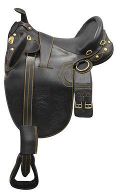 "18"", 19"" Softie leather handmade Australian saddle."