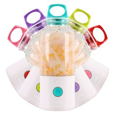 Newly designed portable blender cup makes up to 2 cups of your favorite blended fruit drinks and smoothies.   <ul><li>When it's time to enjoy your milkshake or juice, add liquid, turn on the powerful portable blender and enjoy a freshly blended beverage in under a minute.</li> <li>Made from BPA-free plastic and silicone, with a durable 304 stainless steel blade, this juicer runs on a 5V/1a USB rechargeable battery.</li> <li>The loop cap makes it easy to carry. Great for a pick-me-up at the…
