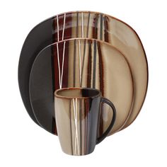Bazaar Brown 16pc Dinnerware Set