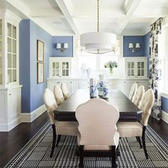Any colour works well with white, but blues have a relaxing 		and cool effect in any room. 		Plascon 		Blue Bay [B5-A1-3] on walls contras...