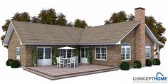 Small house plan in craftsman style with three bedrooms. Small house design with big backyard. Modern House Plan to Modern Family. Duplex House Plans, Craftsman House Plans, Dream House Plans, Modern House Plans, Small House Plans, Craftsman Style, Beautiful Small Homes, House Plans With Photos, American Houses