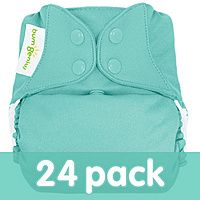 bumGenius Freetime All-In-One One-Size Cloth Diaper 24-Pack. Love them! #cottonbabies