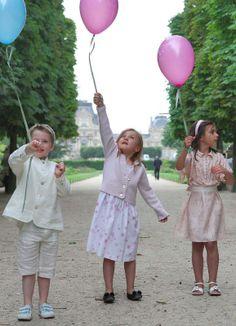 Children in Tuileries Garden, outside Le Meurice, Paris.