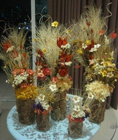 Conjunto de Flores secas I | Rosamorena Artes Florais | Elo7