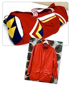 Vintage Style Gym Bag Made from a #Goodwill Jacket #DIY
