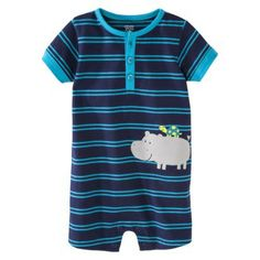 Just One You™Made by Carter's® Infant Boys' Striped Romper - Navy/Turquoise