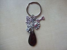 'Doggy' theme charms with Hematite Gemstone  Bag Charm / Keyring