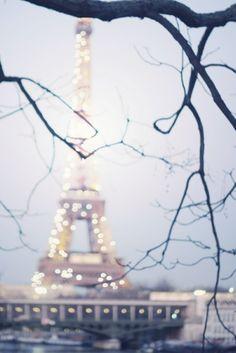 A sparkly Eiffel Tower.